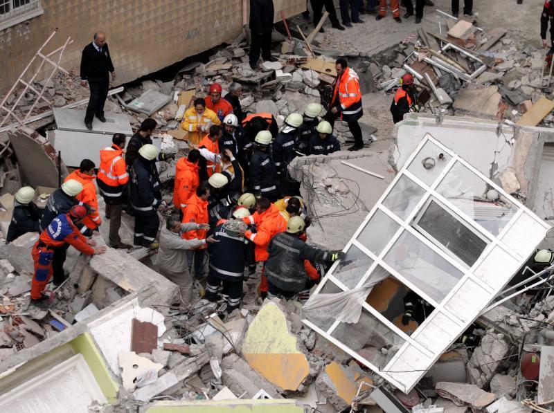 Derrumbe en Estambul