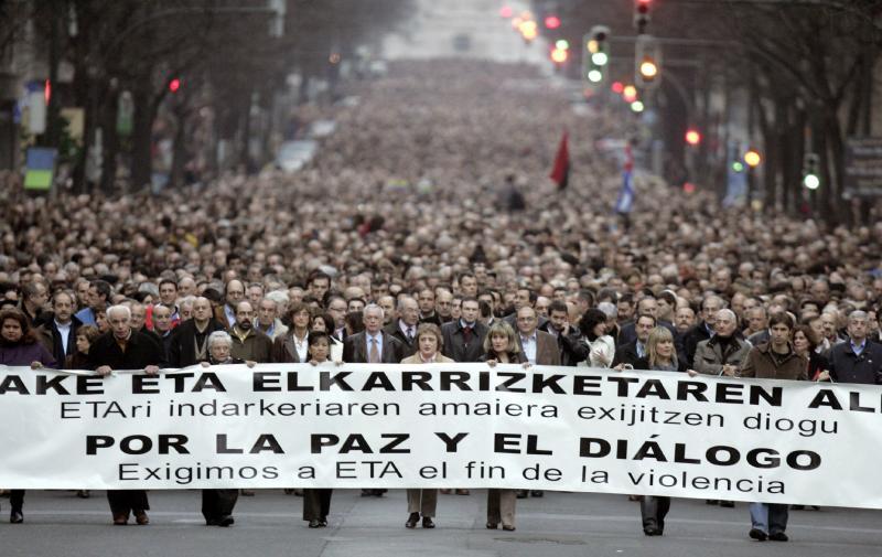 Manifestación de Bilbao contra el terrorismo