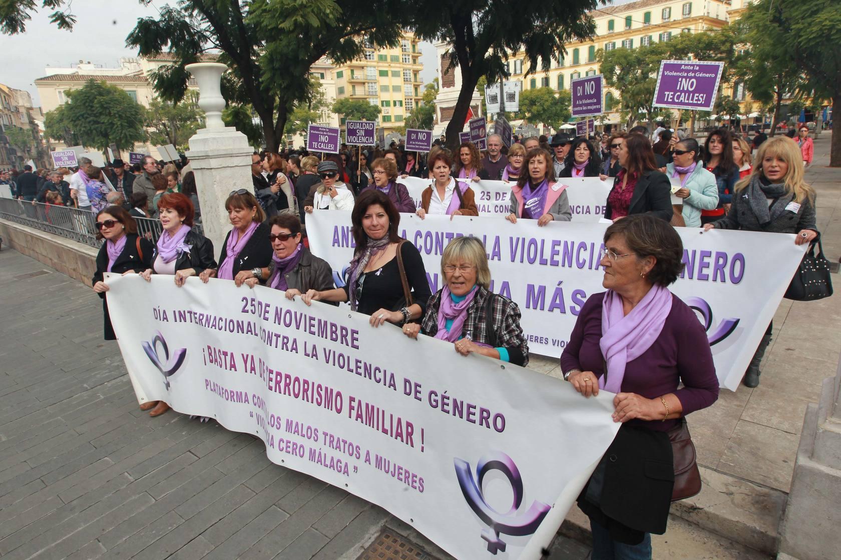 Marcha en Málaga contra la violencia de género