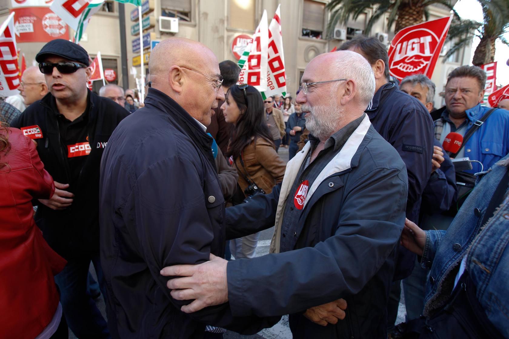 La manifestación del 1 de mayo de Málaga, en imágenes
