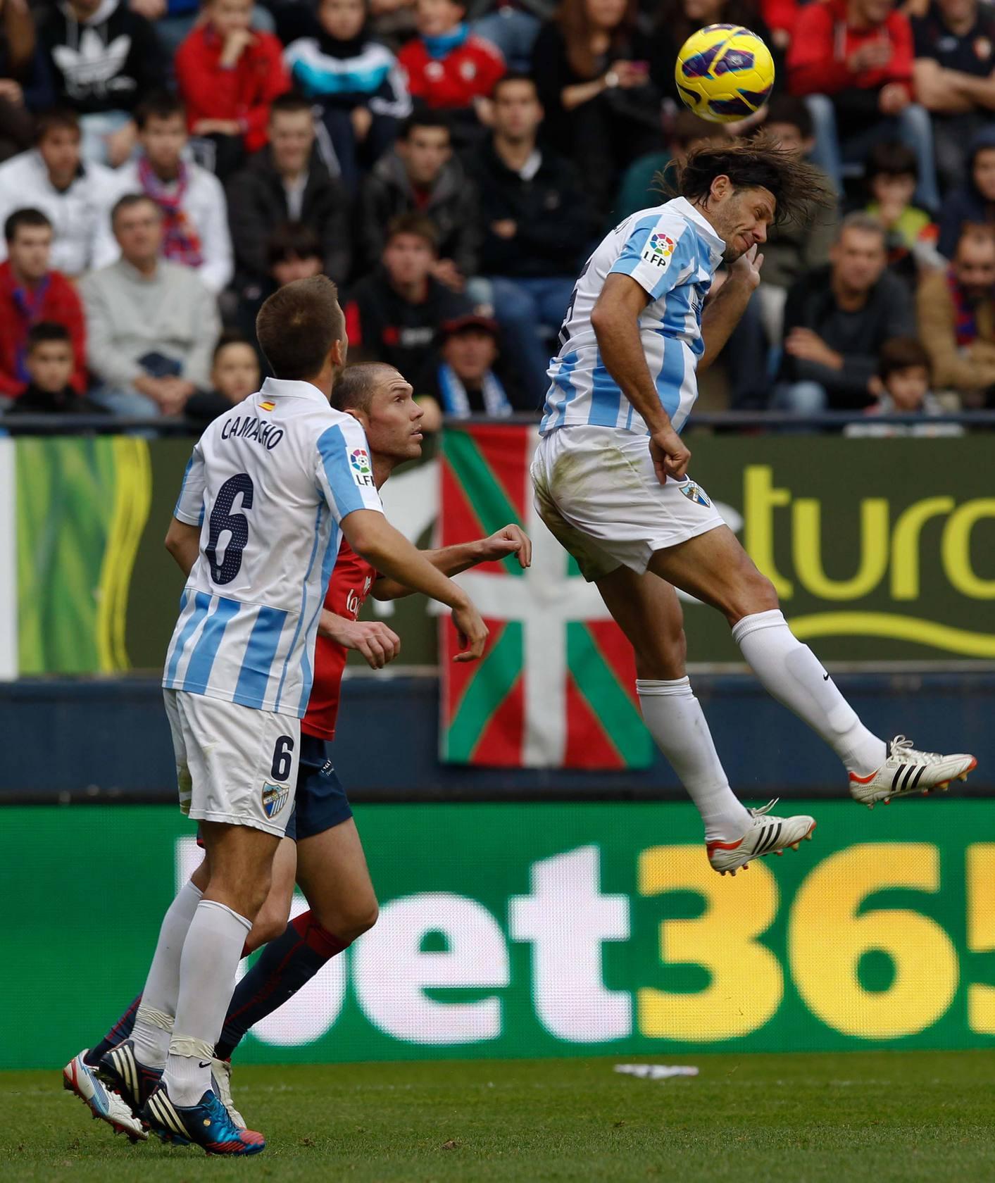 Las mejores imágenes del encuentro entre el Osasuna y el Málaga