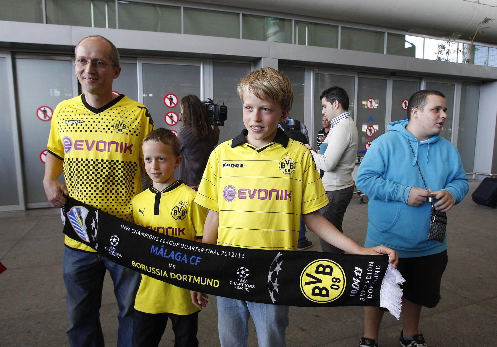 El Borussia Dortmund llega a Málaga para el partido de Champions