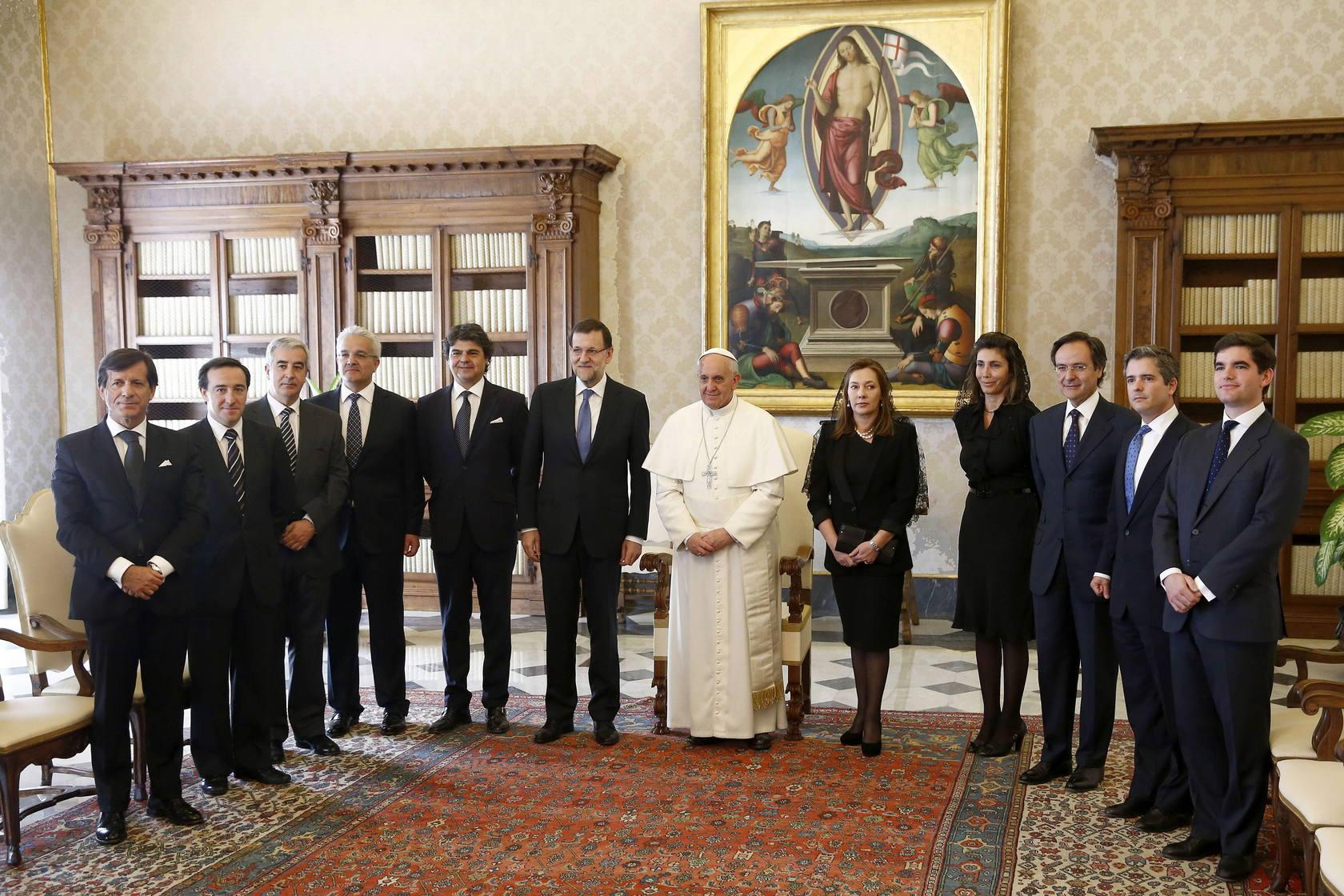El Papa recibe a Rajoy en el Vaticano