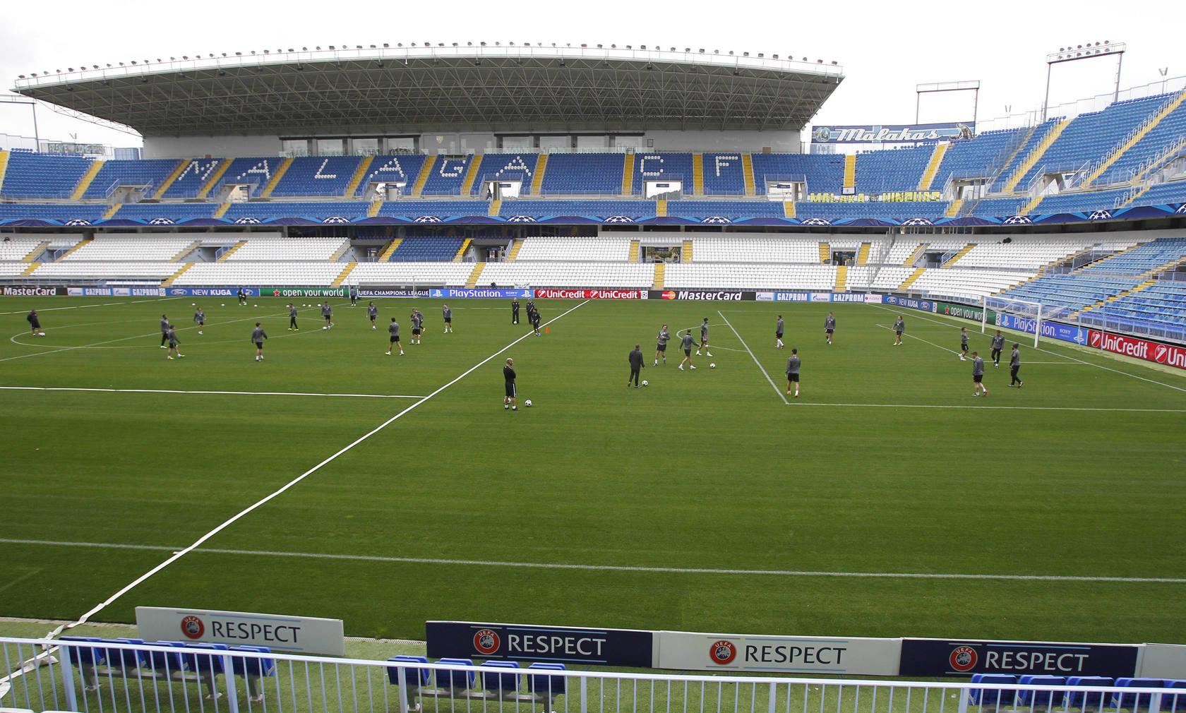 Fotos del entrenamiento del Málaga antes del partido contra el Oporto