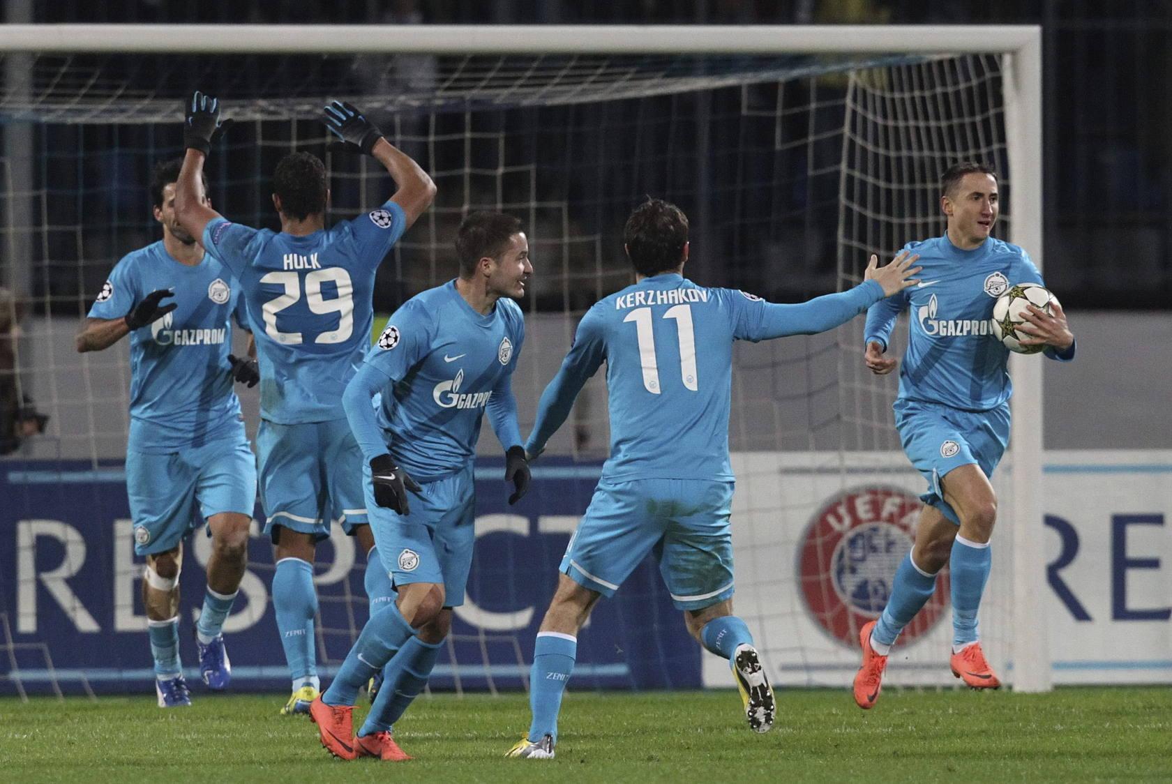 Las mejores imágenes del Zenit-Málaga