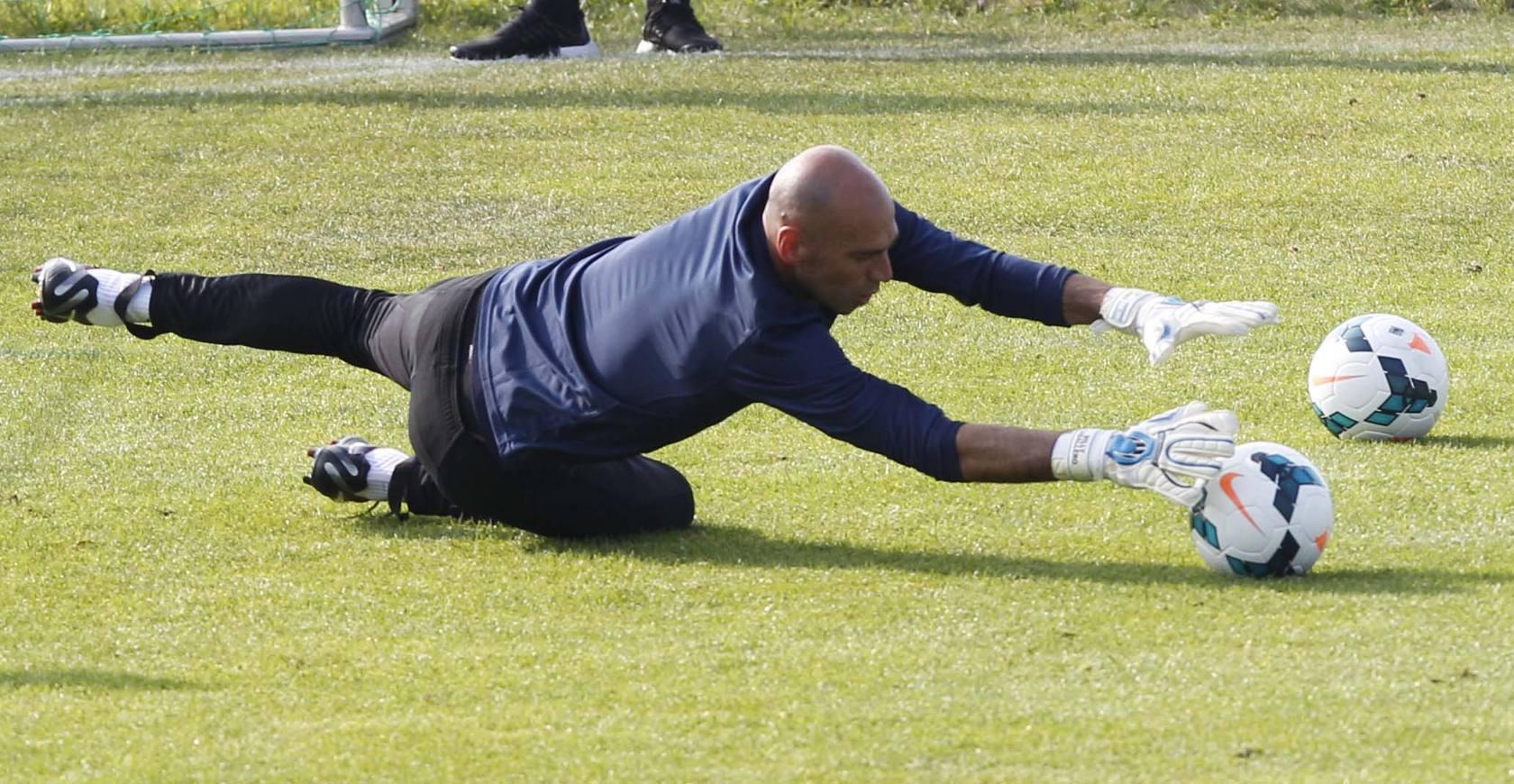 El Málaga trabaja duro en los entrenamientos en Bitburgo (sábado 13 de julio)