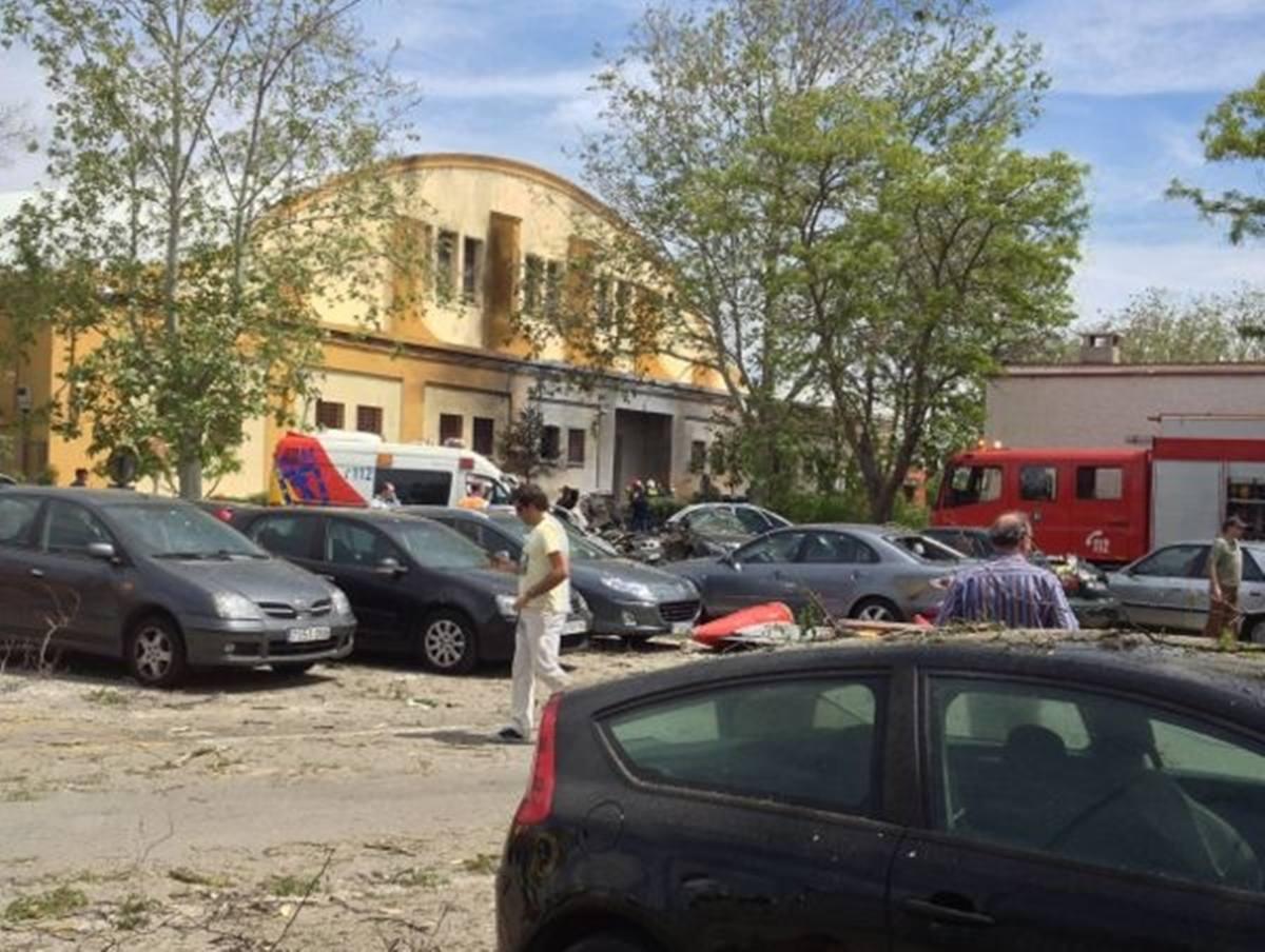 Una avioneta se estrella durante una exhibición en Madrid