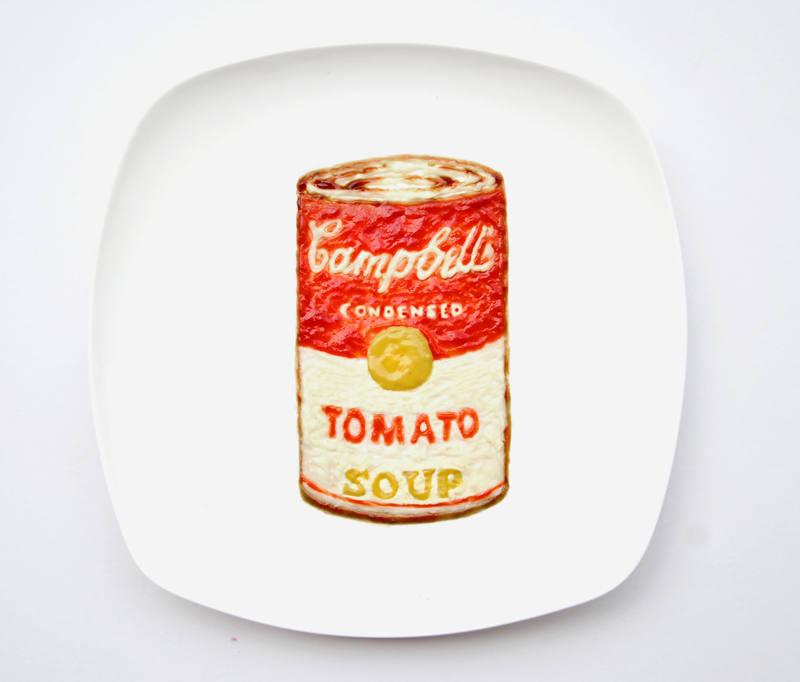 Fotos de las obras de arte con comida de Red