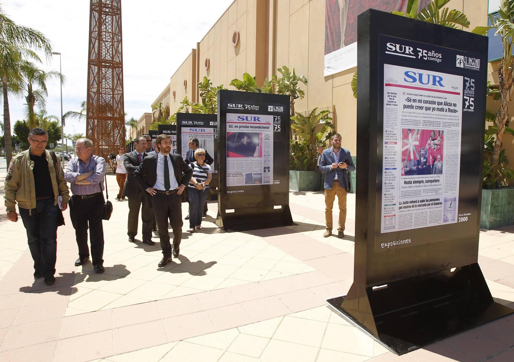 La exposición de las mejores portadas de SUR llega a Vélez-Málaga