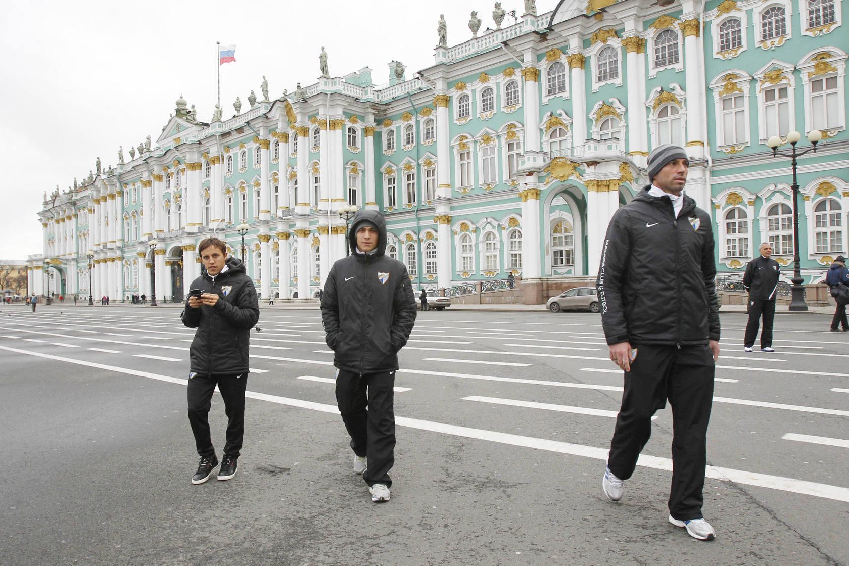 El Málaga recorre las calles de San Petersburgo